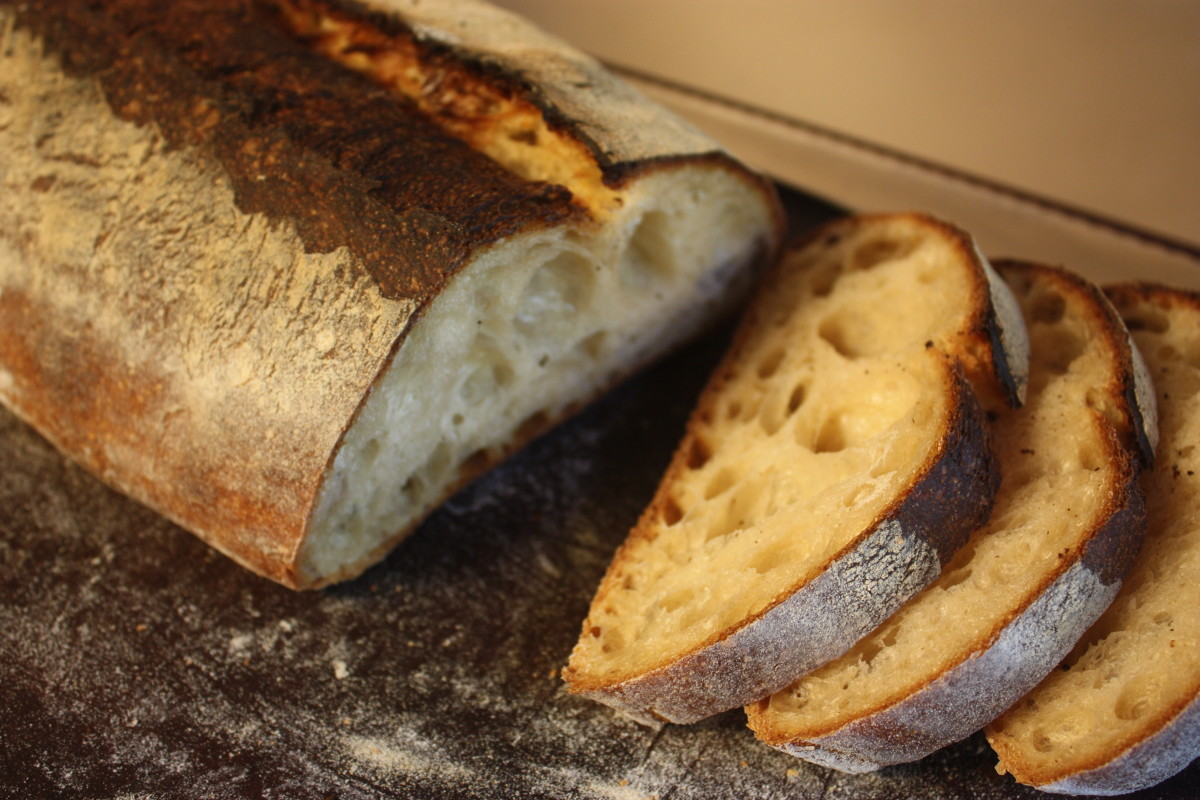 Sourdough batard crumb