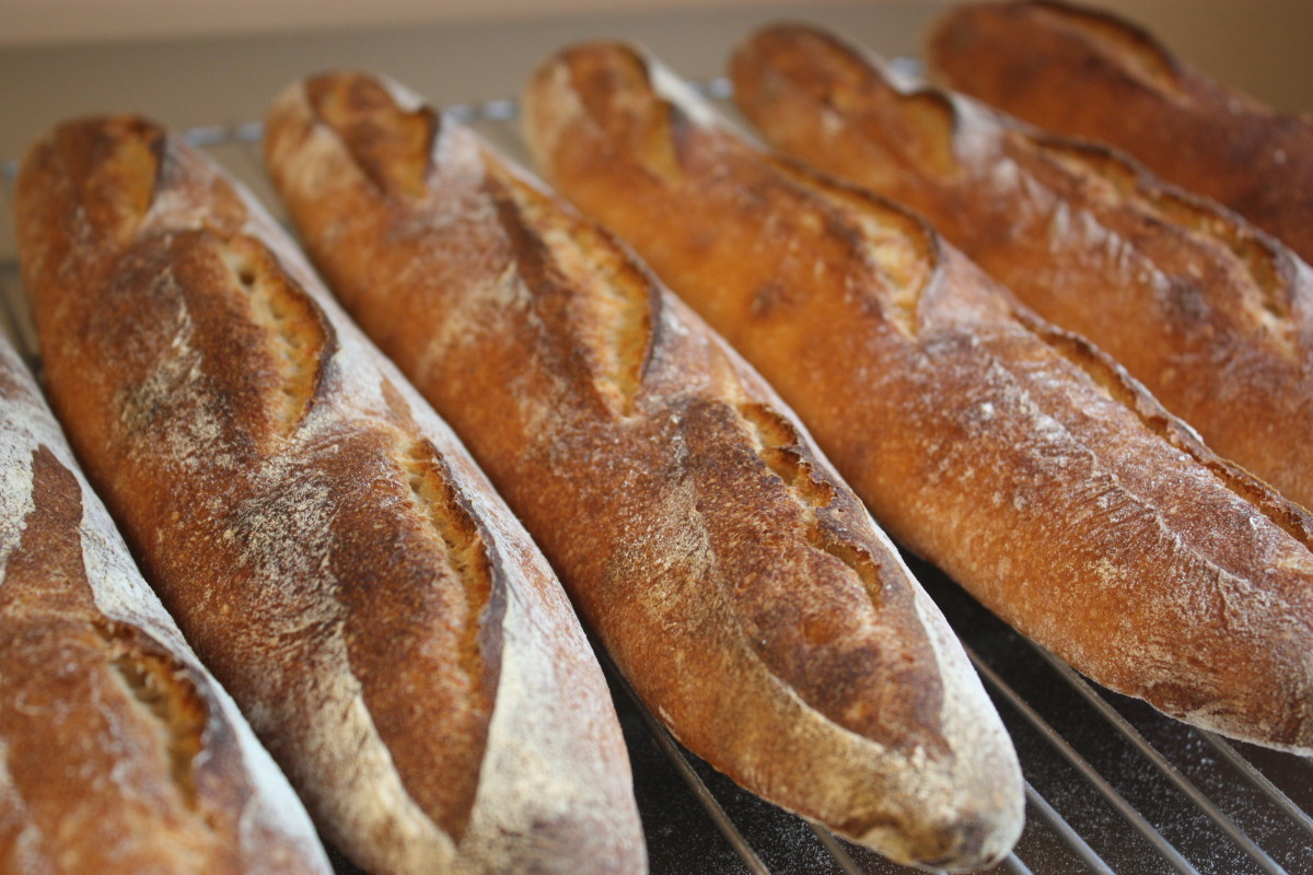 Sourdough baguettes