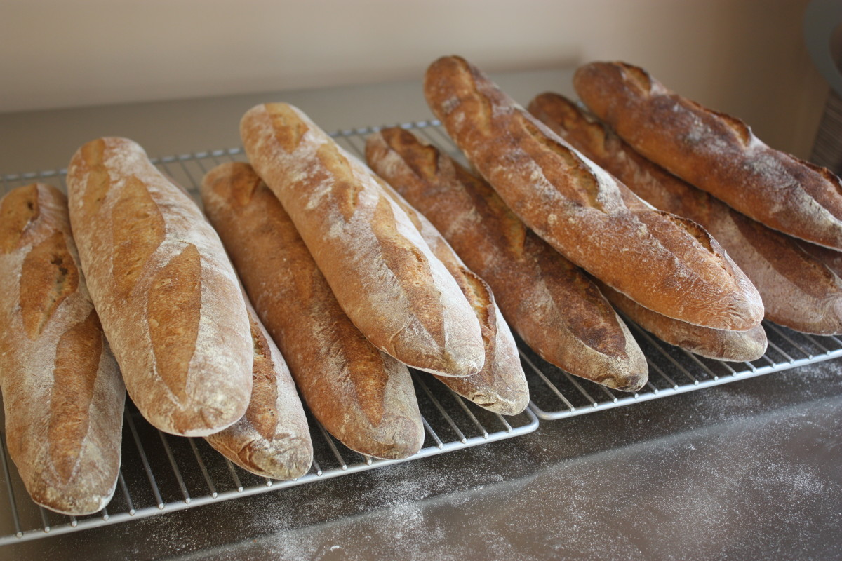Lower and higher heat baguettes