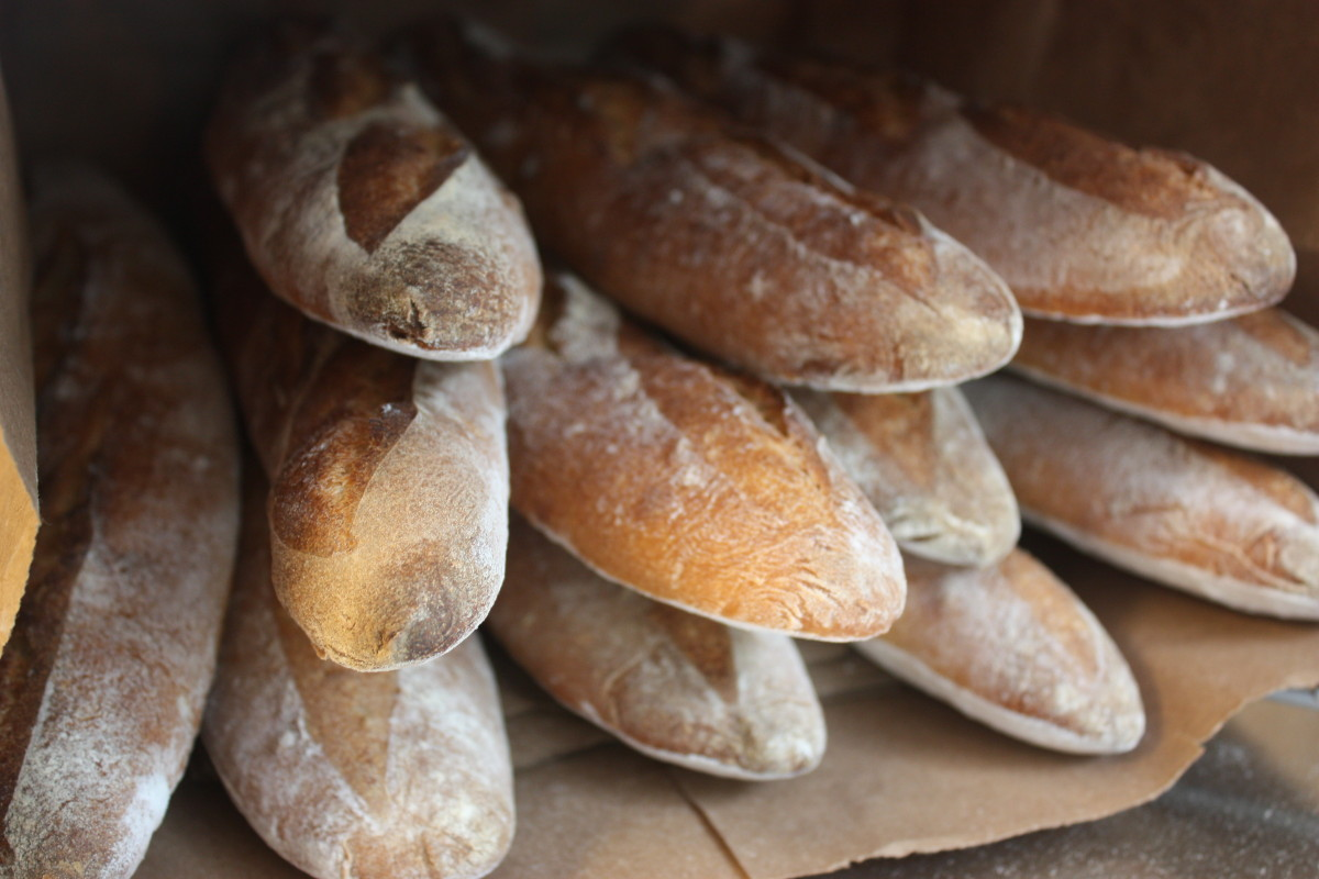 Baguettes in a bag