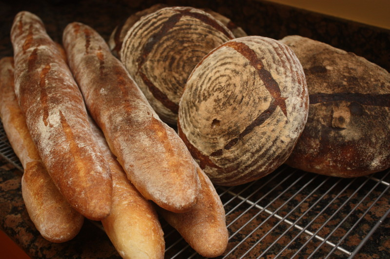 bread baked in a haussler stone oven