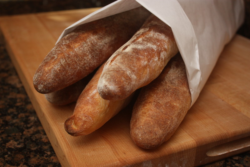 baguettes from a haussler stone oven